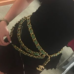 GREEN AUTHENTIC CHANEL CHAIN BELT!!!🍬🎉